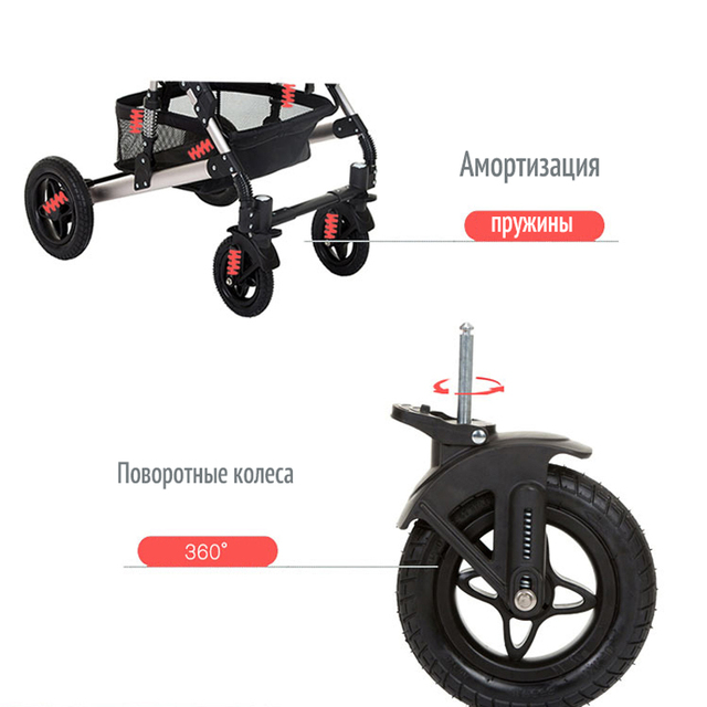 anershi Stroller Baby Stroller for winter Poland 2 in 1 LONEX Russia Free deliver from Russia 2