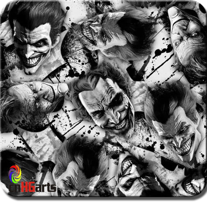 CnHGarts Free Shipping 50cm Width Water Transfer Printing Foil For Car Hydrographics Skull WTP1807