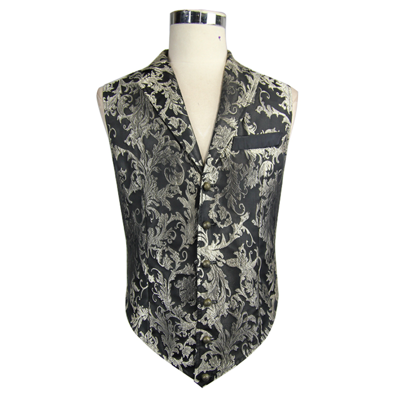 Devil Fashion Gothic Vintage Rock Sleeveless Army Uniform Embroidered Vest For Men Punk Men Evening Party Gentleman Vest Jackets
