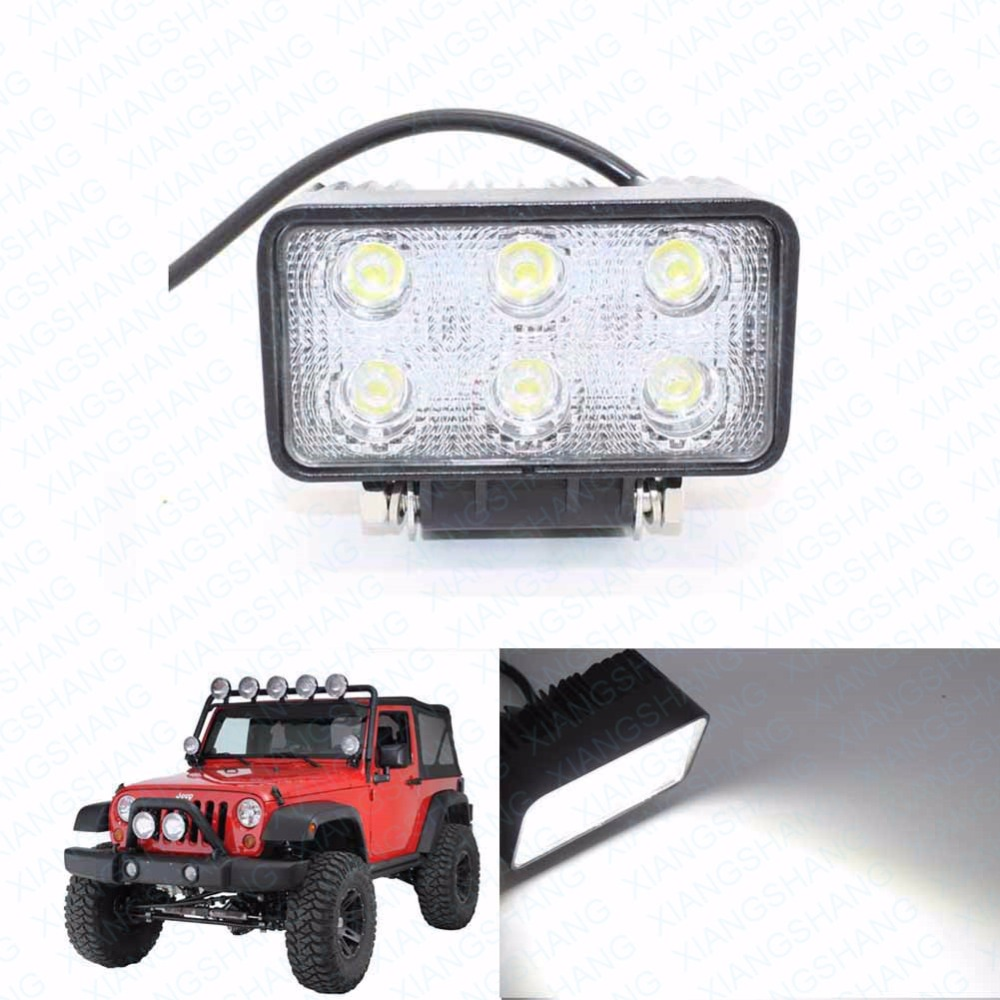 6LED Square Spot Beam Work Light Lamp Offroad Car Truck Motorcycle Trailer Boat Fog Driving Lights Auto LED Worklights 3 led car spot light