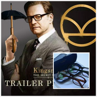 High Quality Movie Kingsman The Golden Circle Secret Service Resin glass Glasses Eyeglasses Sunglasses Cosplay Eyewear