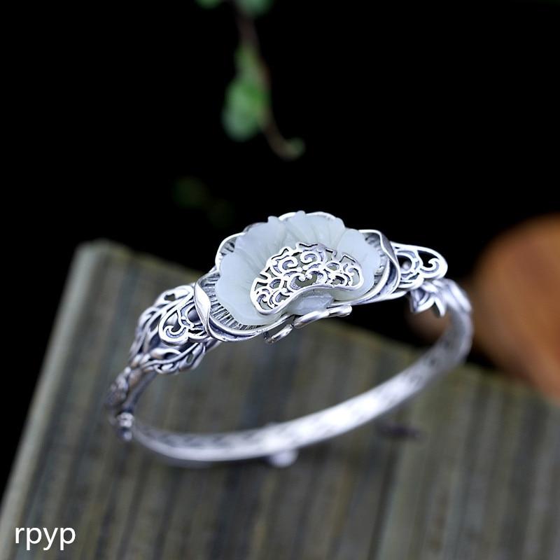 Thai Silver Friendly Kjjeaxcmy Fine Jewelrys925 Pure Silver Jewelry Accessories Hand-made Ladies Ethnic Customs And Tian Yu Bracelets.