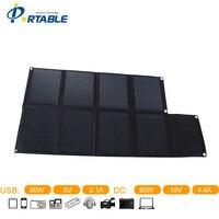 Portable Outdoor Waterproof Folding Solar Panel Charger80W Folding Solar Panel With 8 Folds In Black Color
