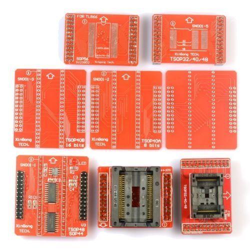 8 pièces D'essai Adaptateur Prise Kit TSOP32/40/48 SOP44 SOP56 pour TL866CS TL866A Programmeur
