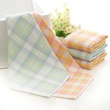 Bright Colors Sunny Cotton Gauze Small Squares Kindergarten Baby Face Towel Children's Birthday Gift Handkerchief Washcloth bright baby blankies