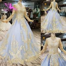 AIJINGYU Weddding Lace Ivory Tulle Gown Wedding Dresses