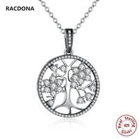 2017 Fashion Classic 925 Sterling Silver Tree Of Life Round Pendant Necklaces Original Pan Charm Necklace