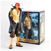 25CM One Piece Red Hair Four Emperors Shanks Toy PVC Anime Figure Shanks Model Action Figures Doll Decoration Kids Gift Z111
