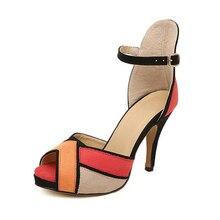 Мода Женщина Насосы Высокие Каблуки Женщин Шить Стиль Замши Высокие Каблуки Случайные 10 СМ Каблуки Женщина Свадебные Дамы сексуальная Обувь