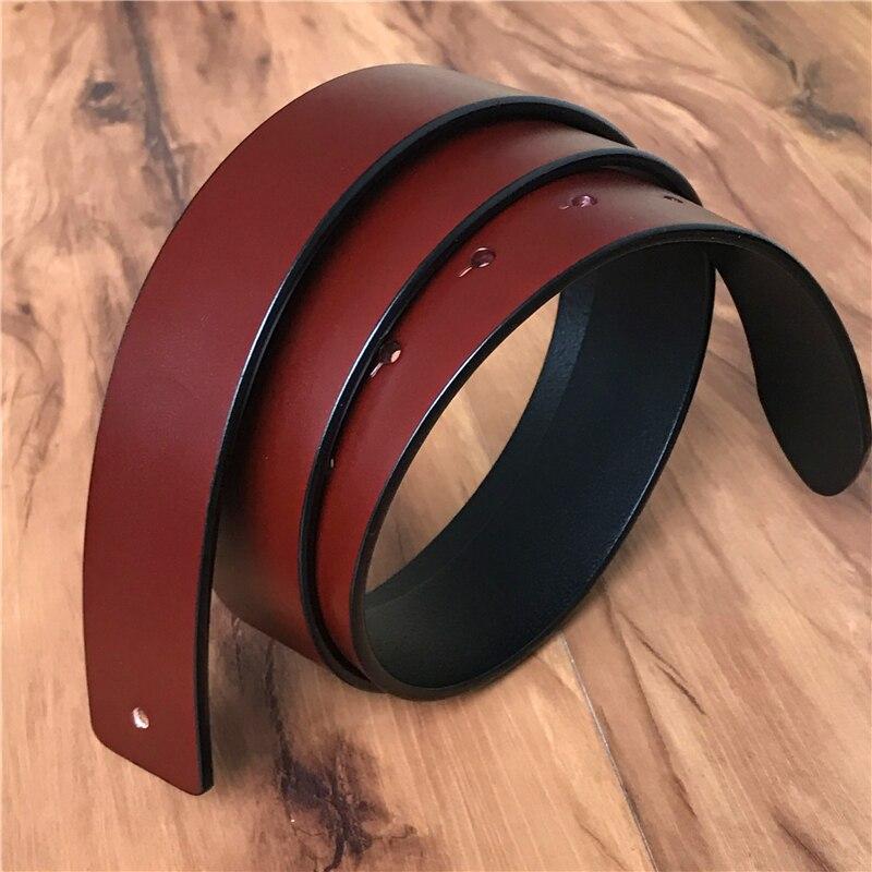 TOP cinturón de cuero genuino hombres sin cinturón hebilla 3,3 cm cinturones de cuero para hombres Ceinture Homme cinturón hombres cinturón 105 -120 cm SP03