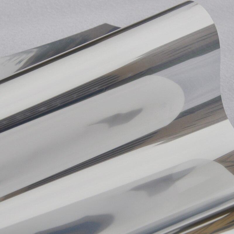 Argent Isolation Fenêtre Film Autocollants Solaire Réfléchissant One Way Miroir couleur argent largeur 30/40/50/60 /70/80/85 par longueur 150 cm