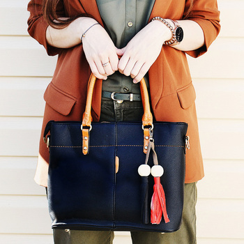 Women Tote Bag Soft PU Leather Ladies Handbag Crossbody Messenger Bags Female Shoulder Bag 1