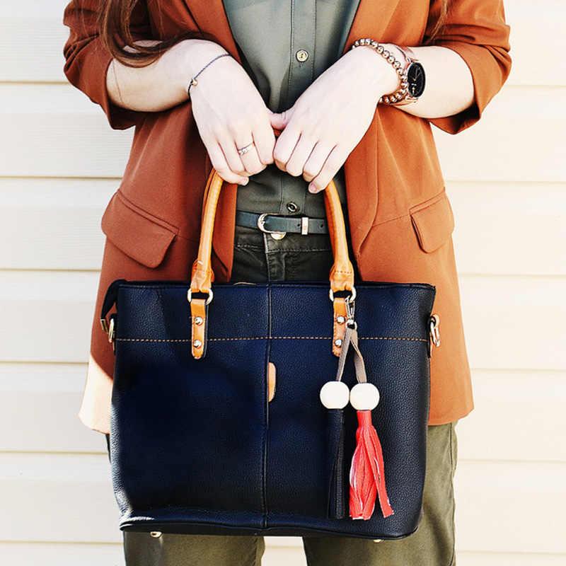 Petrichor большой Ёмкость Сумка-тоут с кисточками Для женщин мягкая кожаная женская сумка через плечо Курьерские Сумки Женский кошелек сумка