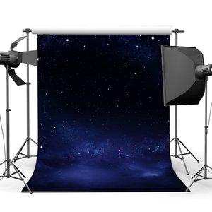 Image 1 - وميض النجوم القمر ليلة خلفية السماء الزرقاء خوخه بريق البقع رومانسية خلفيات التصوير خلفية