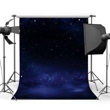 Twinkle księżyc Starry noc tło niebieskie niebo Bokeh brokat plamy romantyczne tapety fotografia tło