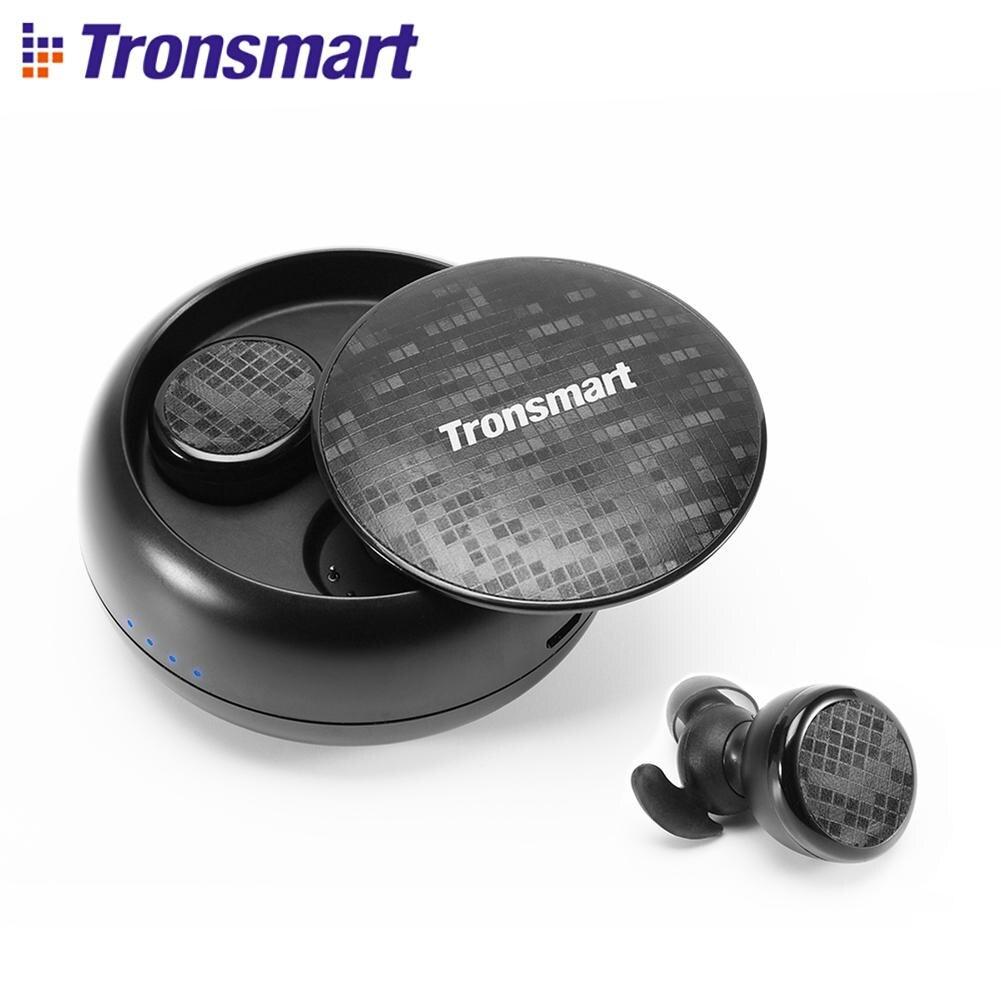 Tronsmart Encore Spunky Bourgeons Bluetooth Écouteurs Sans Fil Écouteurs Stéréo Sans Fil Écouteurs IPX5 avec Micro pour Téléphones