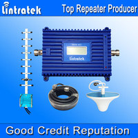 Lintratek Signal Repeater DCS 1800MH Cellular Signal Booster GSM Repeater 1800 Booster 70dB Gain LCD Repetidor