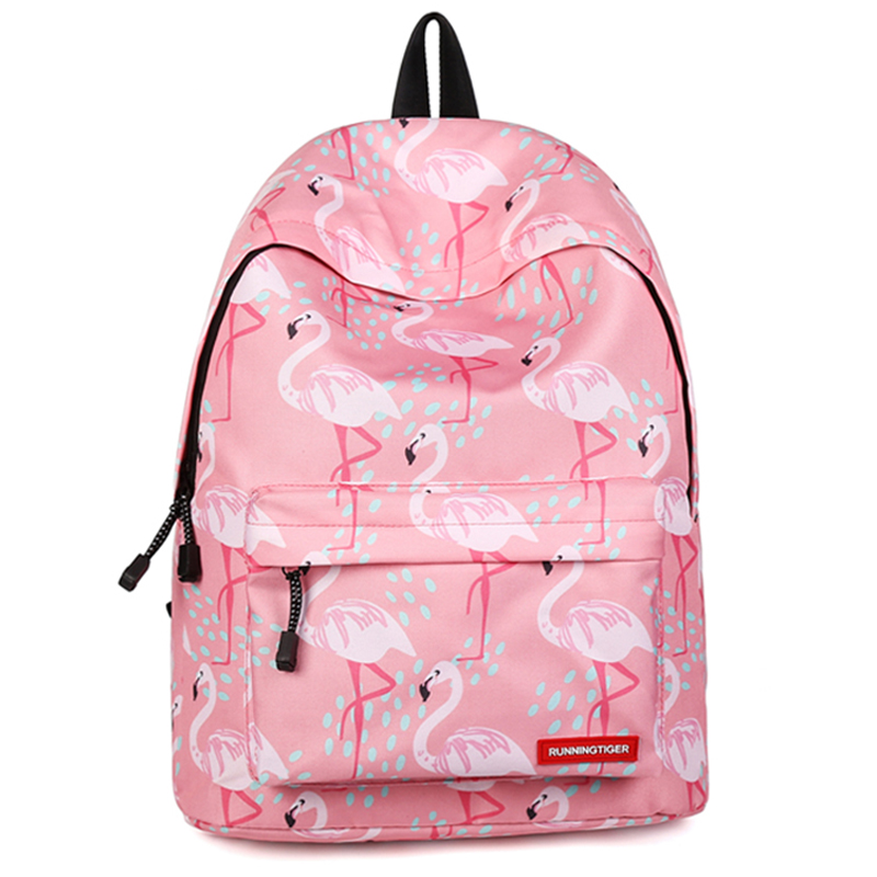 Laptop School Bag For Teenage Girls Flamingo Printing Backpack Women Fashion Pink Bagpack Travel Rucksack Mochila Feminina Mujer