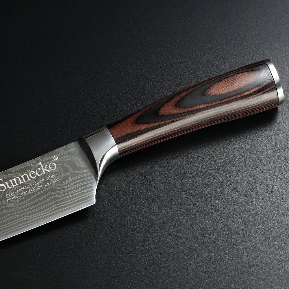 Professional 8 düym aşbazın bıçağı yüksək keyfiyyətli - Mətbəx, yemək otağı və barı - Fotoqrafiya 5