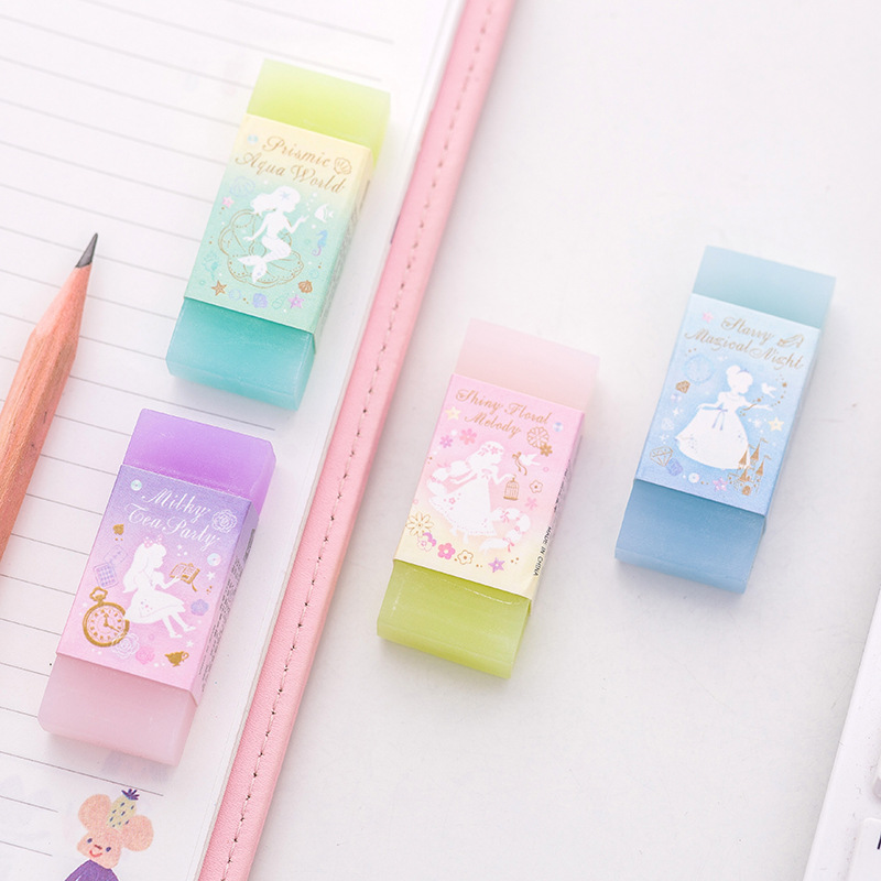 купить Princess Alice World Double Color Eraser Rubber Eraser Primary Student Prizes Promotional Gift Stationery по цене 45.56 рублей