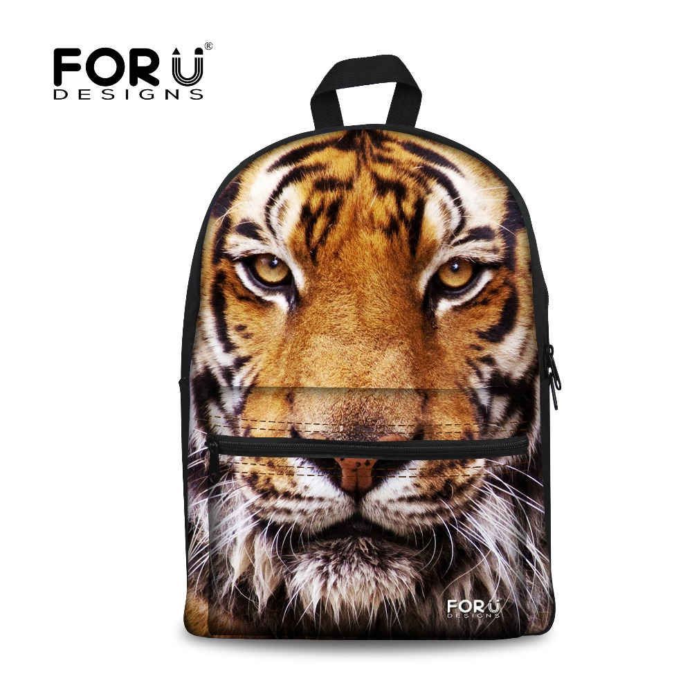 FORUDESIGNS Boys Backpack Cool 3D White Tiger Head Printing Laptop Backpack for Men Casual Children Backpack Kids School Bags|Backpacks|Luggage & Bags - title=
