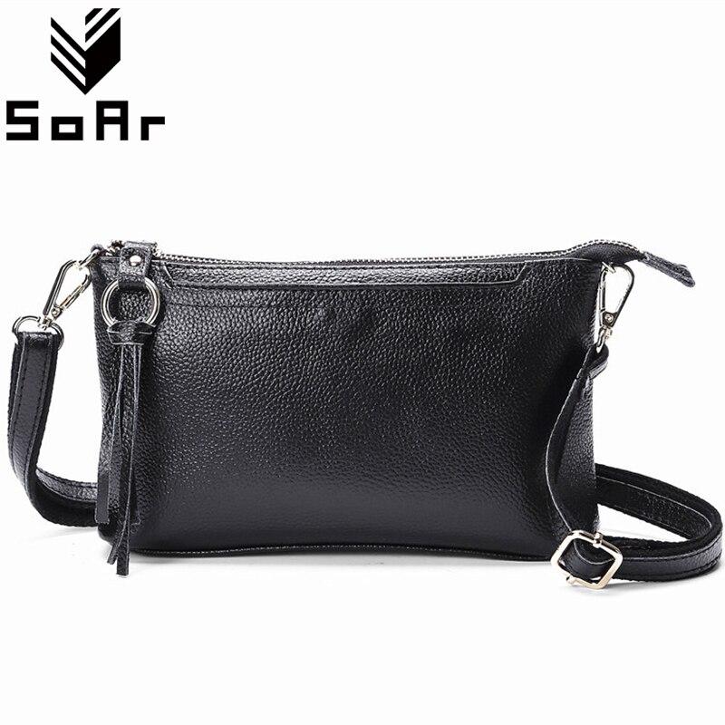 SoAr Genuine Leather Women Messenger Bags Cute Flap Female Hot Sale Tassel Shoulder Bags Luxury Brands Cow Leather New Arrival 4