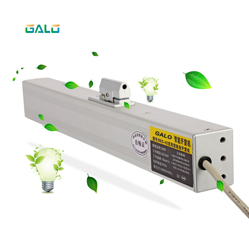 Electric Window Opener, 2 Wires Motor, Controlled By Remote Control/receiver Are Included Open 300mm Small Size Window
