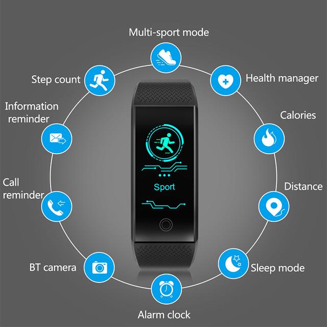 Schnoah Fitness Smart Watch Men Women Pedometer Heart Rate Monitor Waterproof IP68 Swimming Running Sport Watch For Android IOS
