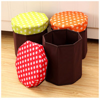 5 Colors Optional High Quality Multi Functional Creative Storage Stool Toys Debris Storage Box Foldable Home