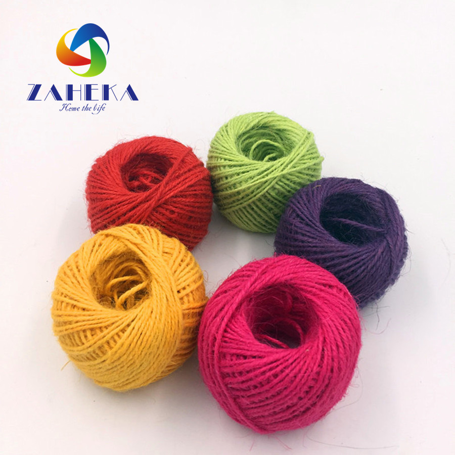 US $7 65 |5 Colors decorative twisted rope handmade natural colored jute  rope decorative rope sisal DIY cord for Gifts Packing Home Decor-in Cords