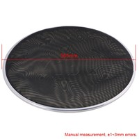 Yibuy 368mm Diameter Black Double Ply Mesh Silent Drum Head Drum Skins Percussion Accessories For 14nch