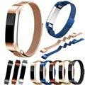 Alta calidad más nueva milanese bucle magnético banda para fitbit alta smart watch accesorios correas de reloj de acero inoxidable