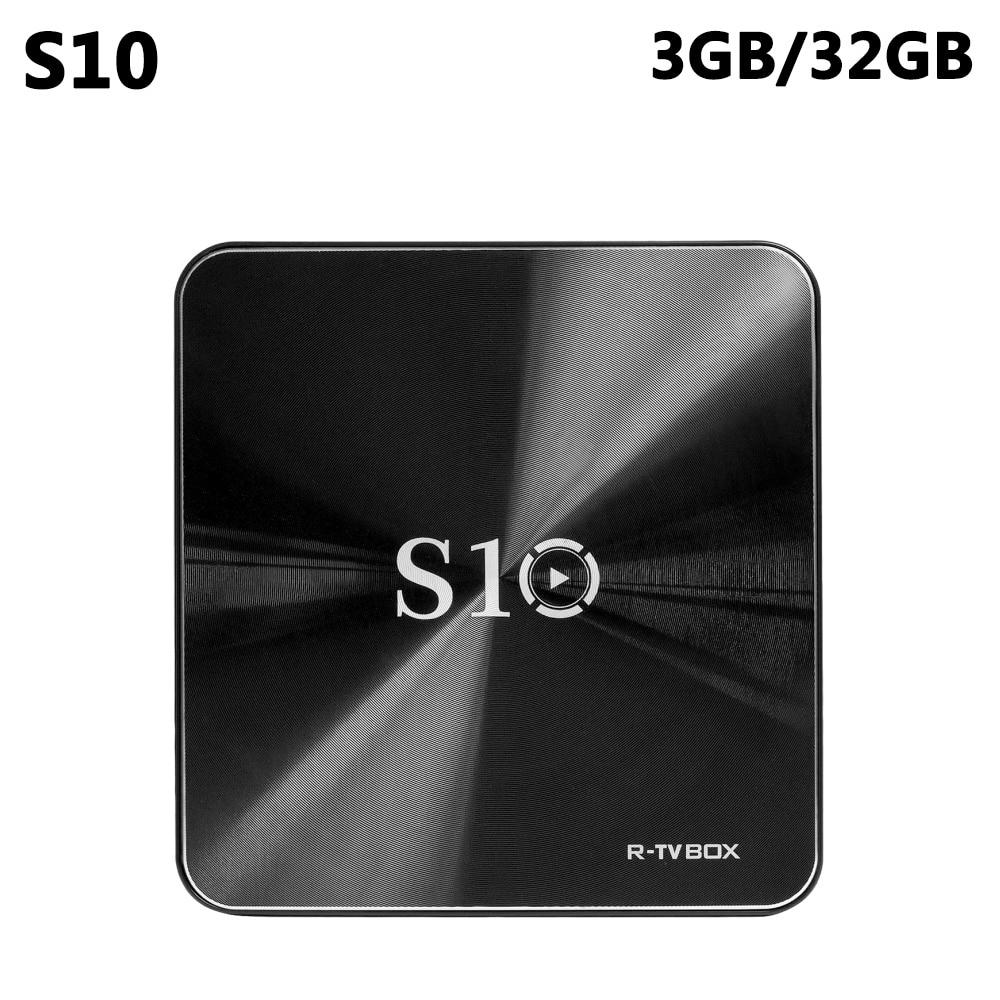 S10 3GB DDR4 32GB eMMC Amlogic S912 Octa Core Android 7.1 TV Box 2.4G/5G WIFI Bluetooth 4.1 4K HD Smart Media Player PK H96 Pro 3gb 32gb m8s pro l smart android 7 1 tv box amlogic s912 octa core 4k media player bluetooth 4 1 pk h96 pro