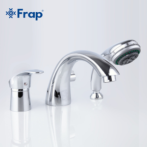 Image 2 - Frap Three piece Bathtub Faucet Full Three hole Separation Split Bath Tub Hot and Cold Water Mixer with Hand Shower F1121