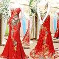 Sexy Backless Da Sereia Longa Lantejoulas Flores de Luxo Mulher 2017 Nova festa de casamento vestidos para ocasiões especiais vestidos EX5
