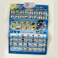 QT0838 English Arabic 2 Language Muslim Wordshipl Wall Map Children Educational Machine Phonic Wall Hanging Chart