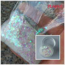 White Snow flakes glitter, 50g/bag Clear White irregular cut chunky irregular glitter For nail polish,nail decoration