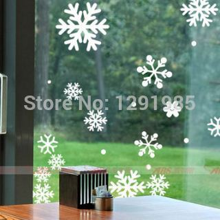 Merry Christmas Window Wall Decals Stickers Snowflakes Indoor Ornament Decoration Xmas Crafts Christmas Decorations For Home In Wall Stickers From Home