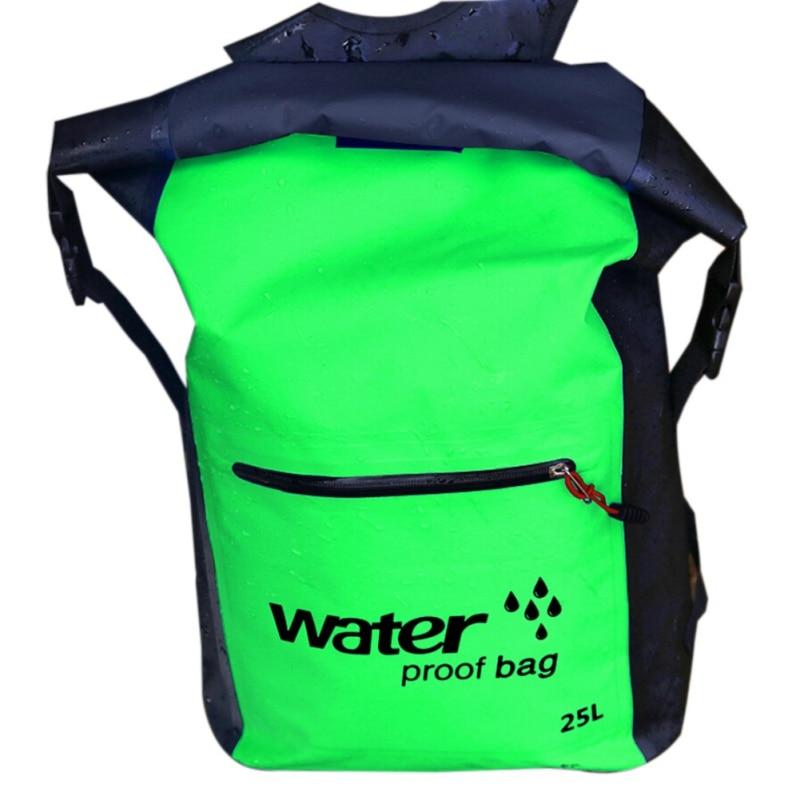 25L Outdoor Waterproof storage bag Dry organizer Sack Rafting Sports Backpack for Swimming canoeing Kayaking