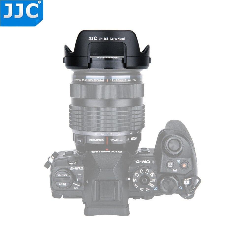 JJC Reversible Objektiv Haube Für Olympus M. zuiko Digital ED 12-40mm f/2,8 PRO Objektiv Passt CPL ND Filter ersetzt Olympus LH-66