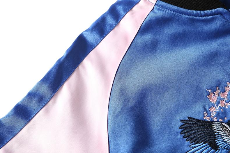 Custom Embroidered Satin Jacket 9