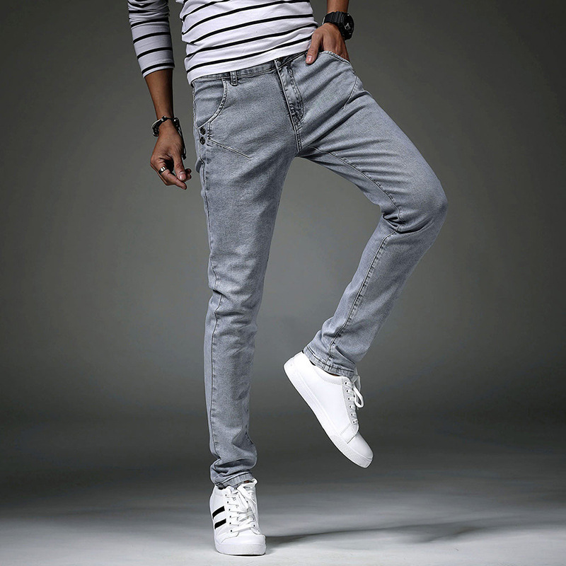 new 2018 mens jeans Cultivate ones morality foot height pants pants mens trousers stretch a pencil