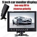 9 Дюймов резервного копирования камера заднего вида высокое качество Монитора Автомобиля Обратный приоритет 2 Видеовхода TFT Цветной ЖК-Экран
