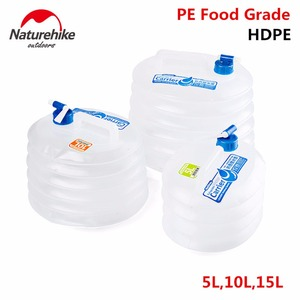 Image 1 - NatureHike 5/10/15L 대용량 야외 물 가방 하이킹 휴대용 컨테이너 접이식 캠핑 물 탱크 내구성 양동이 주전자