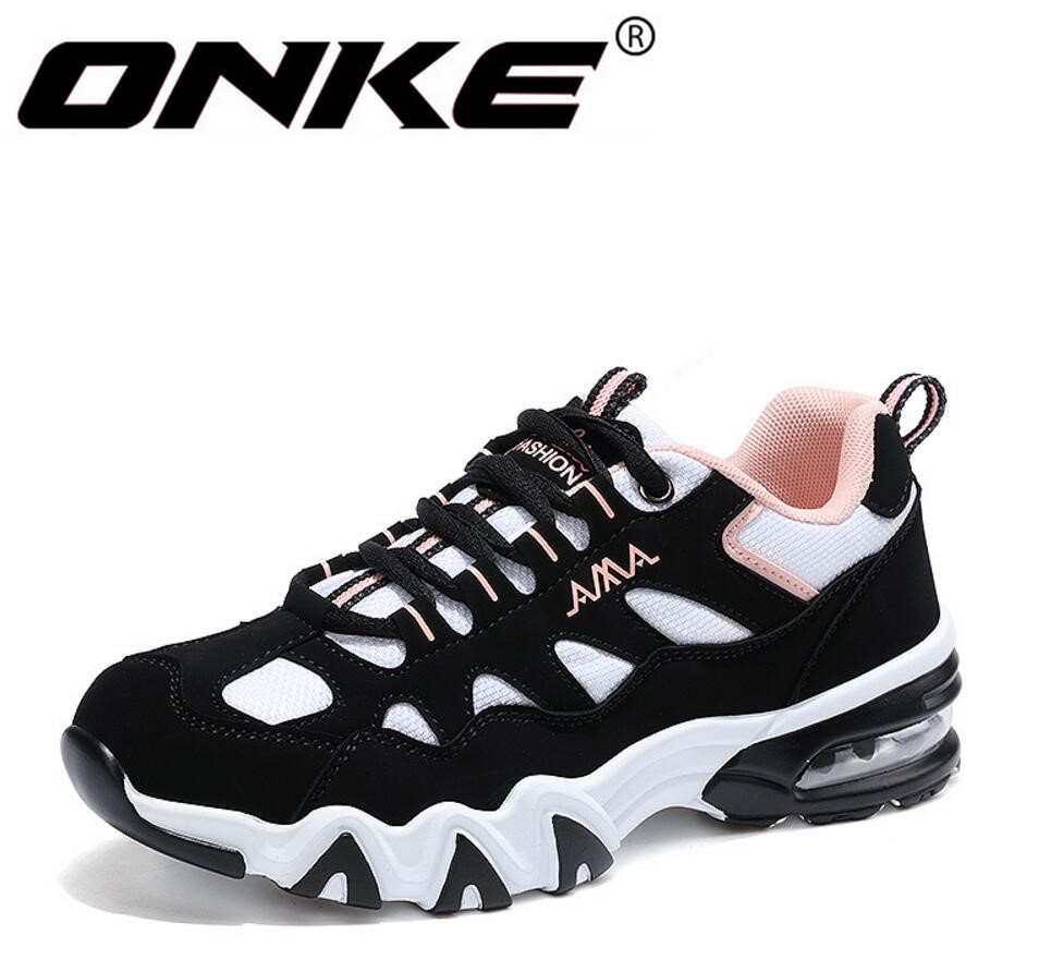 ONKE New listing of Hot sales four seasons Breathable  men women running AIR cushion shoes sneakers  sports shoes 852-A52