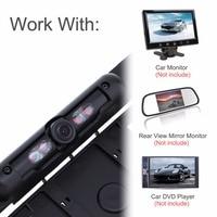 DC 12V Auto Parktronic EU Car License Plate Frame Rear View Camera HD Night Vision Reverse