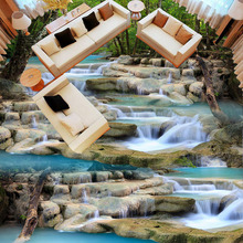 3D Running Water Waterfall Nature Landscape Large Custom Mural Wallpaper