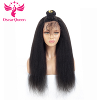 Peruvian Yaki Straight Hair 4*4 Silk Base Full Lace Human Hair Wigs Pre Plucked Remy Hair With Baby Hair Bleached Knots130%