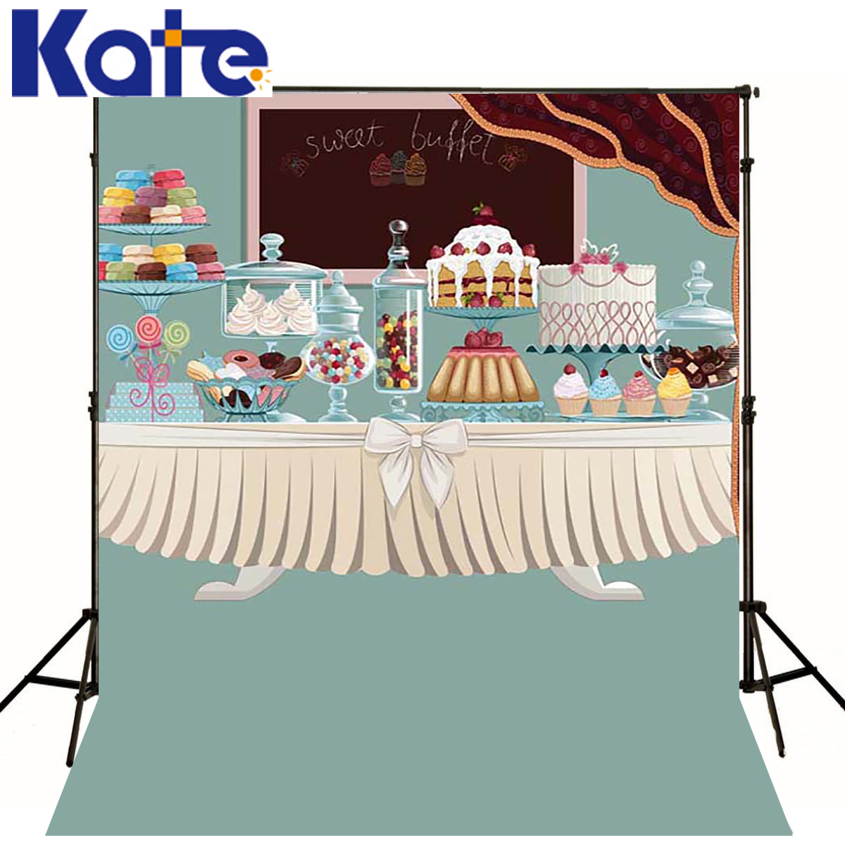 Kate Happy Birthday and Dessert table Background Newborn Cartoon Cake for Childre Photography Studio сумка kate spade new york wkru2816 kate spade hanna