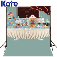 Kate Happy Birthday and Dessert table Background Newborn Cartoon Cake for Childre Photography Studio